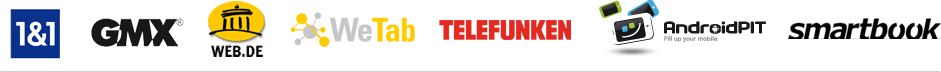 1&1 GMX WEB.DE WeTab TELEFUNKEN AndroidPIT smartbook