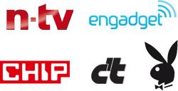 Conocido en los medios de comunicación: n-tv engadget CHIP c't PLAYBOY